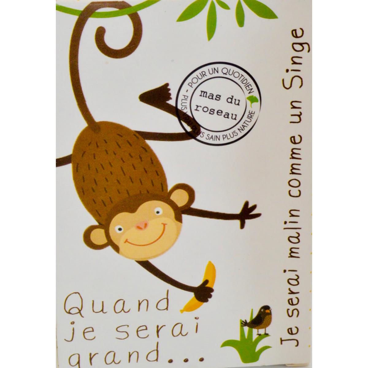Savonnette naturelle pour enfant : malin comme un singe