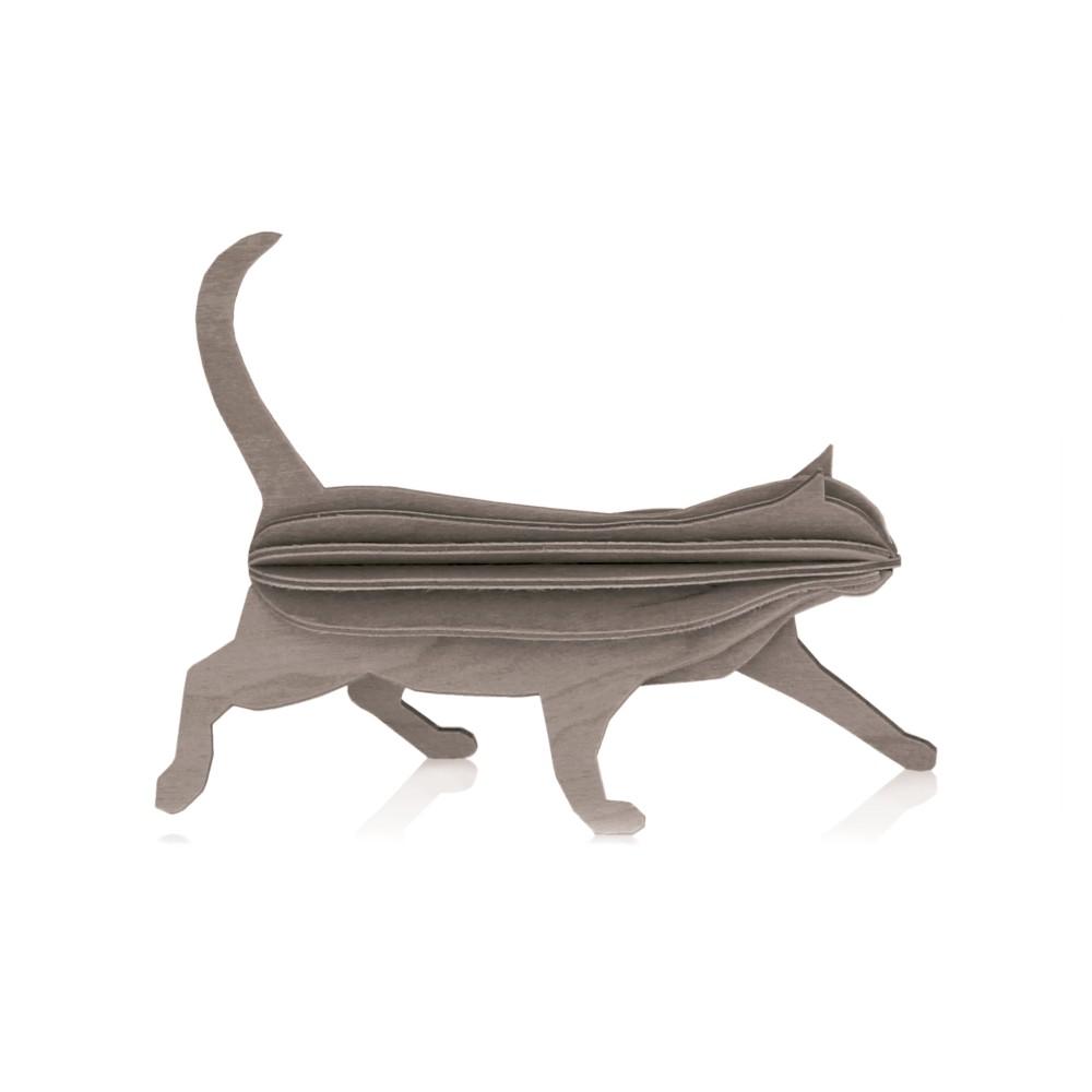 Le chat de Lovi : carte pour construire un 3D en bois (M)