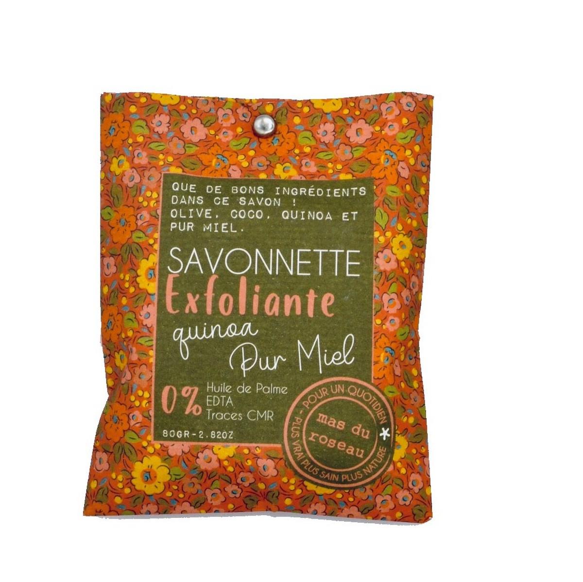 Savonnette eco-friendly Exfoliante au pur miel et quinoa