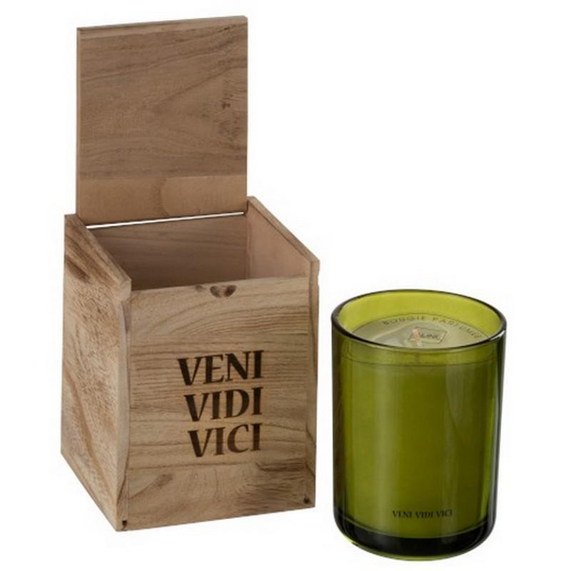 Bougie parfumée VENI VIDI VICI senteur thé vert 70h