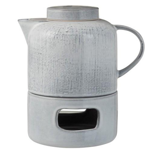 Théière et base chauffante en céramique Louise