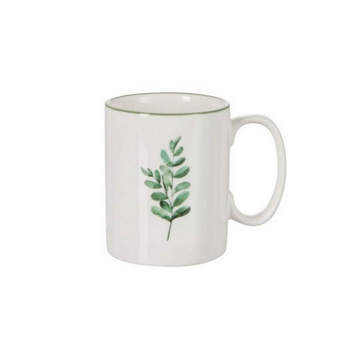 Mug Eucalyptus en porcelaine blanche