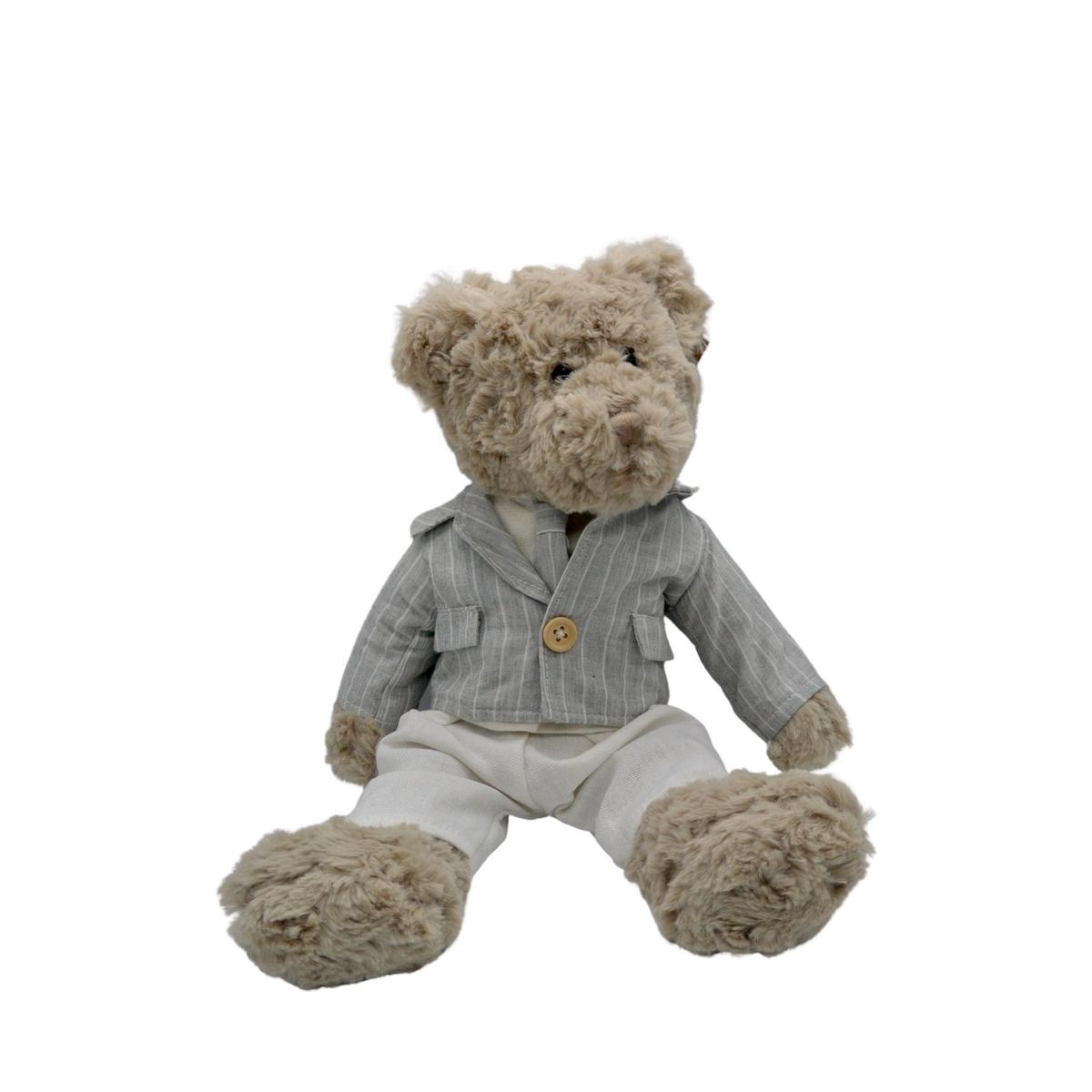 Ours en peluche avec veste et cravate : Lucien