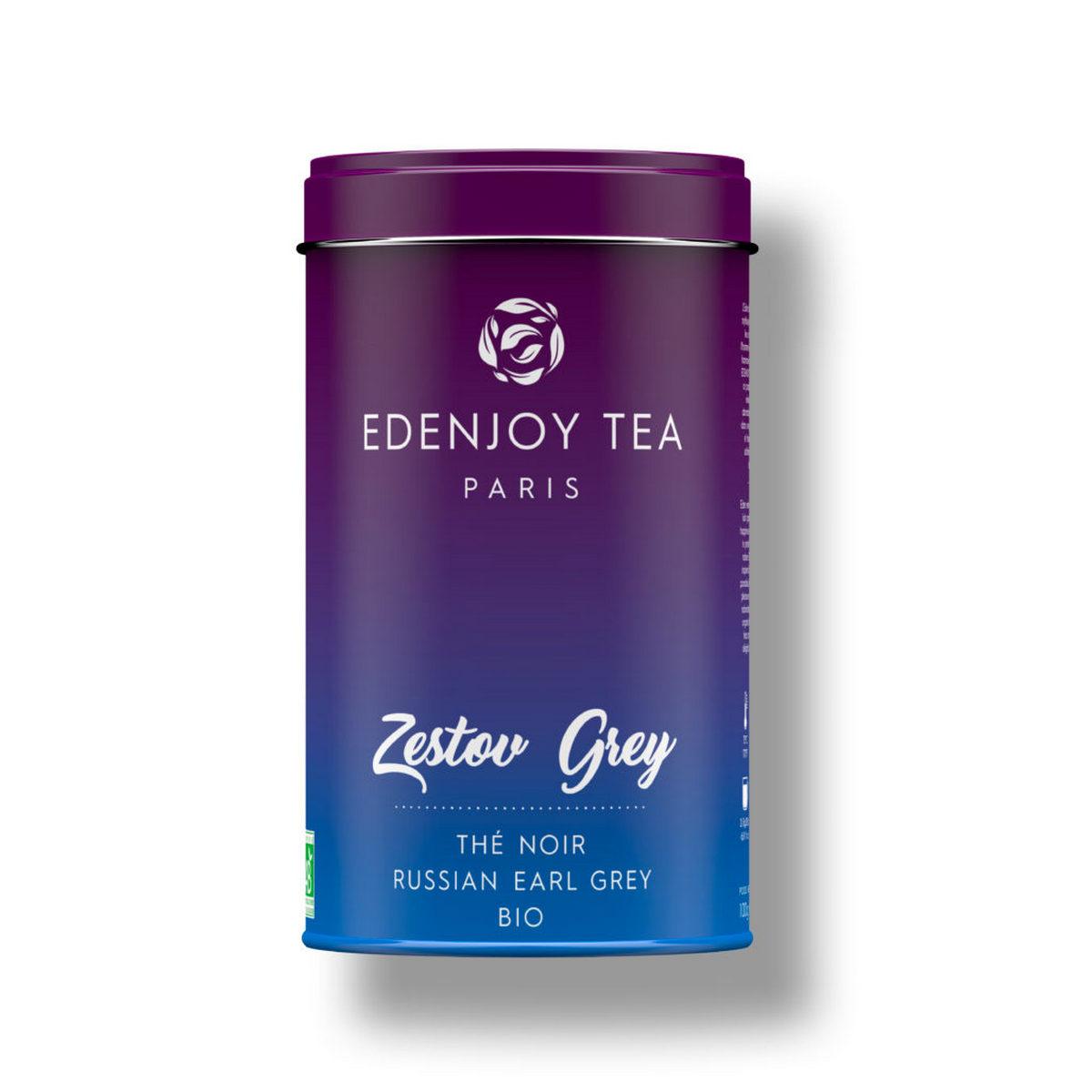 Thé noir bio russian Earl Grey : Zestov Grey