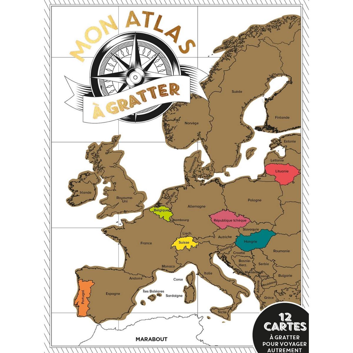 Mon atlas à gratter / 12 cartes pour voyager autrement