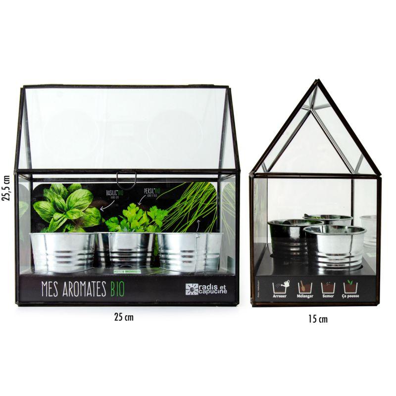 Serre d'intérieur pour aromates bio