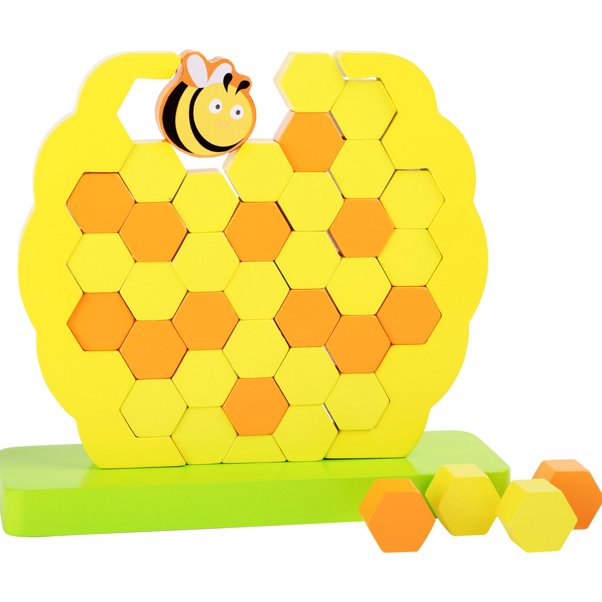Tour bancale en bois : la ruche et l'abeille