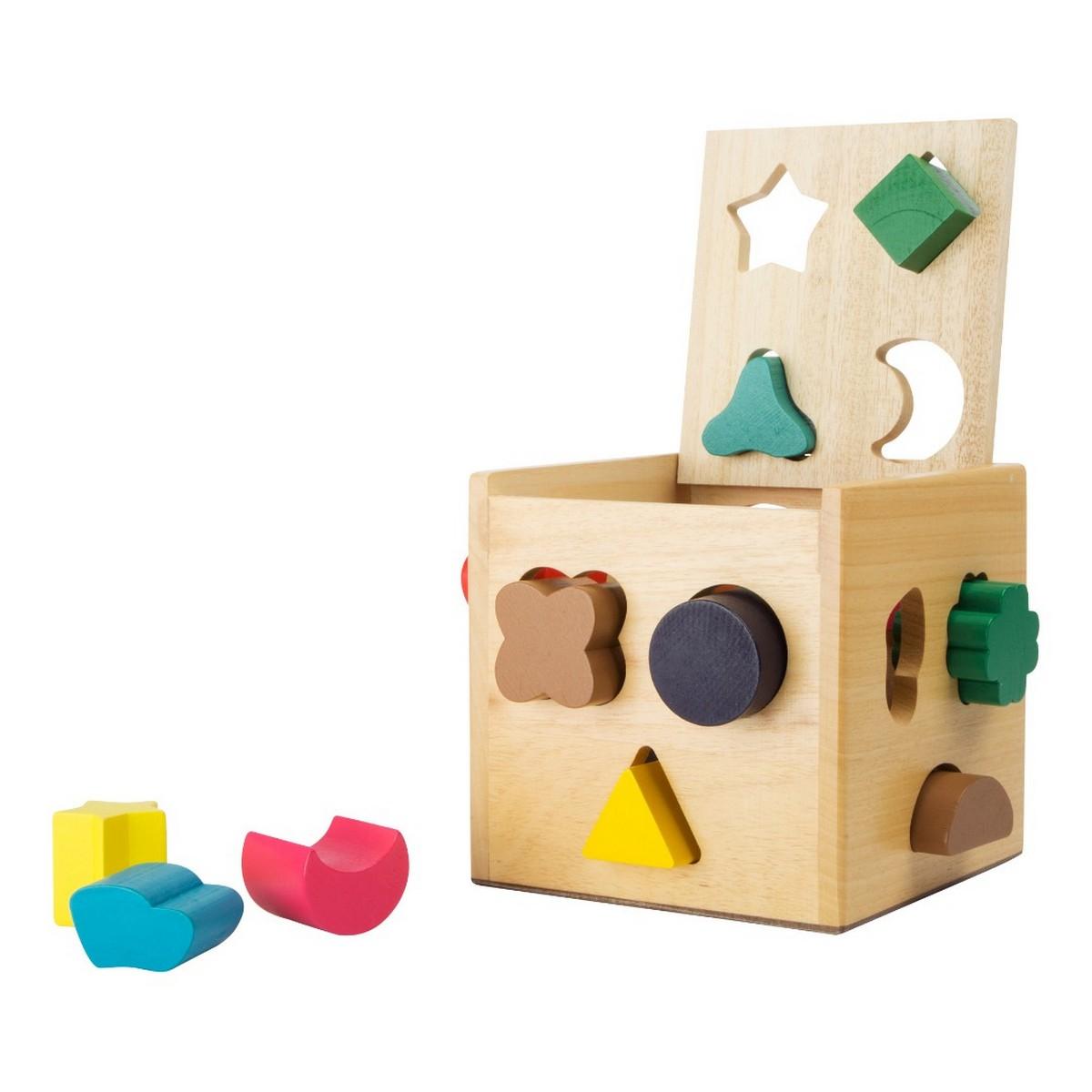 Cube à formes / Jeu d'éveil en bois