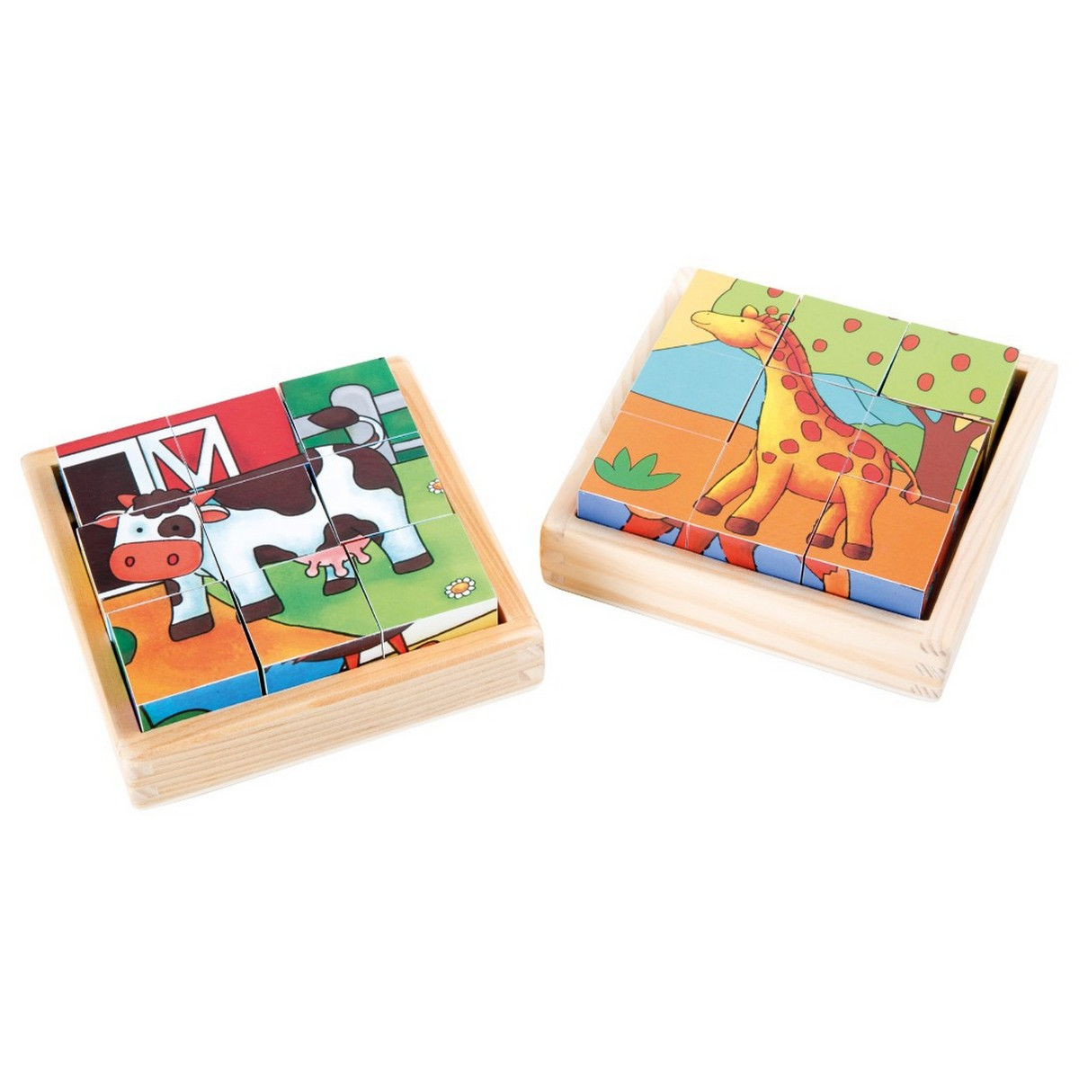 Puzzle cubes : la ferme & le zoo