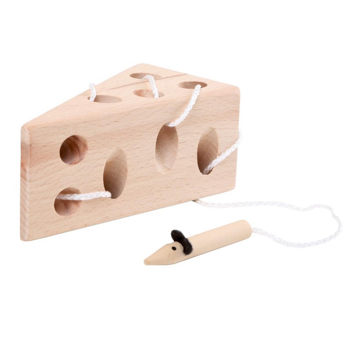 Le fromage et la souris / Jeu d'éveil en bois