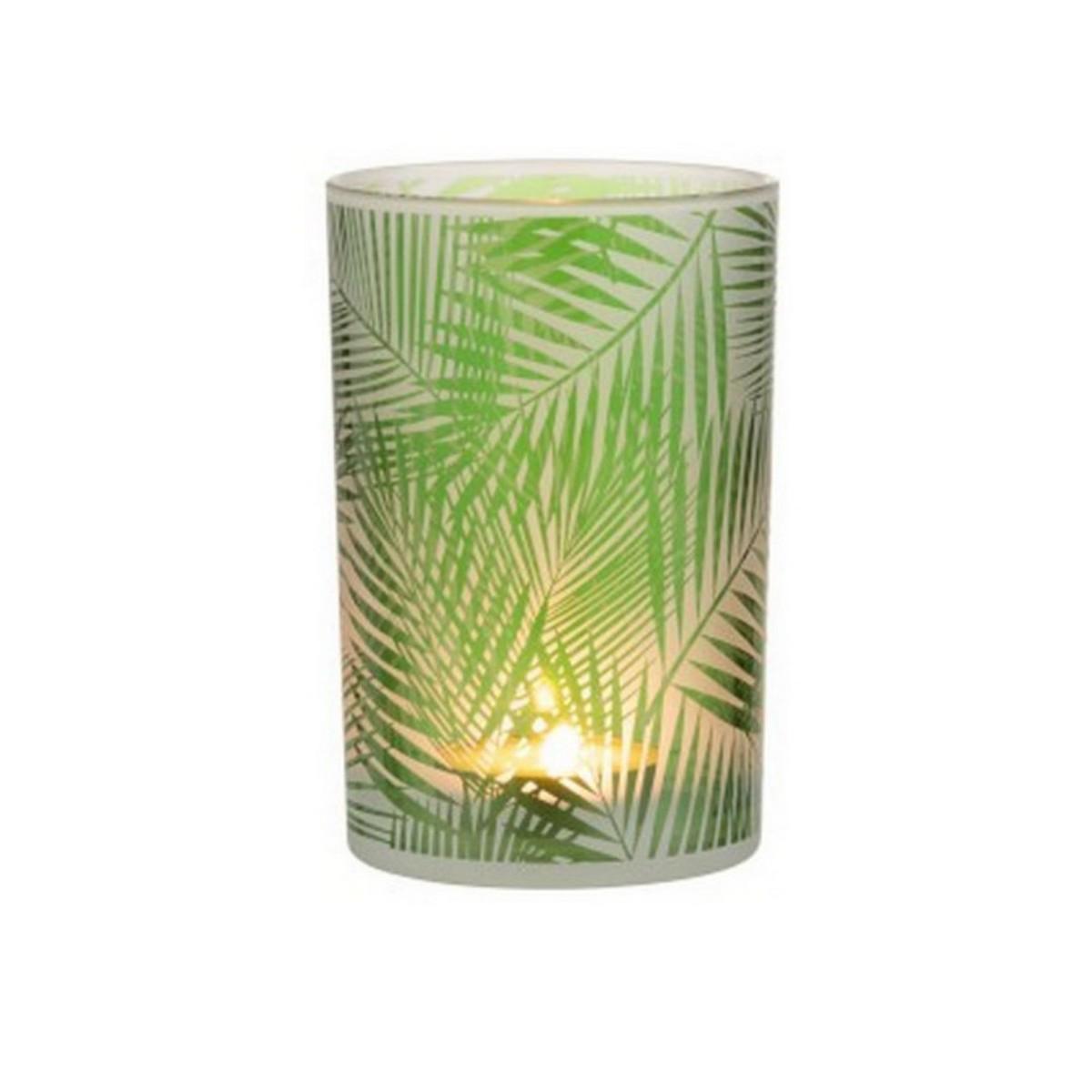 Photophore tropical en verre