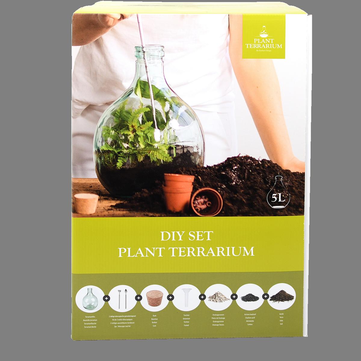 Kit bouteille terrarium 5 L à faire soi-même DIY