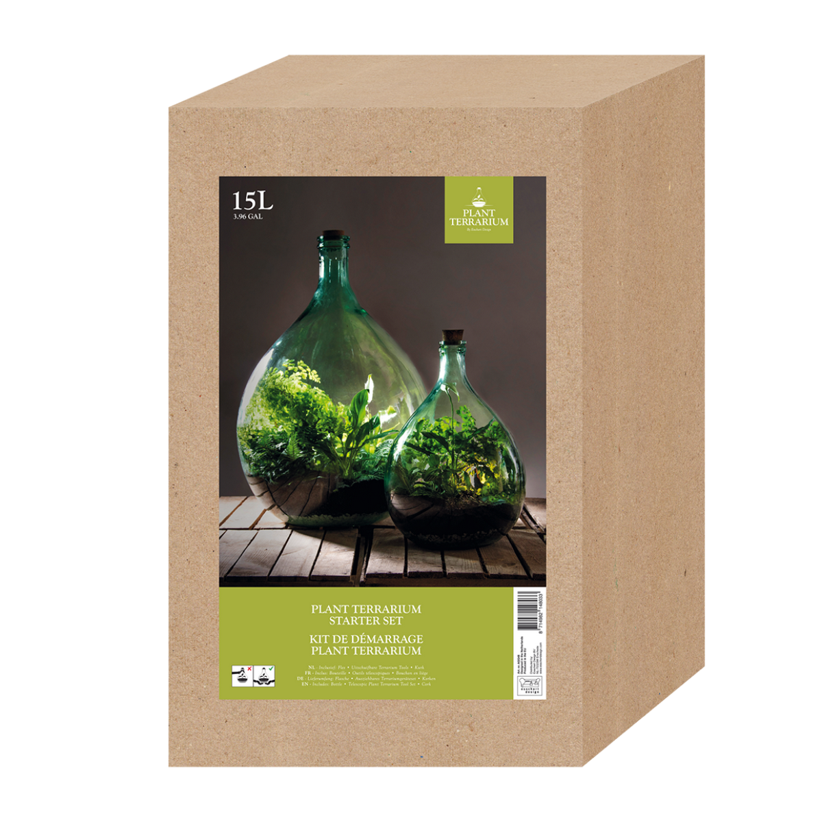 Kit bouteille terrarium 15 L à faire soi-même DIY