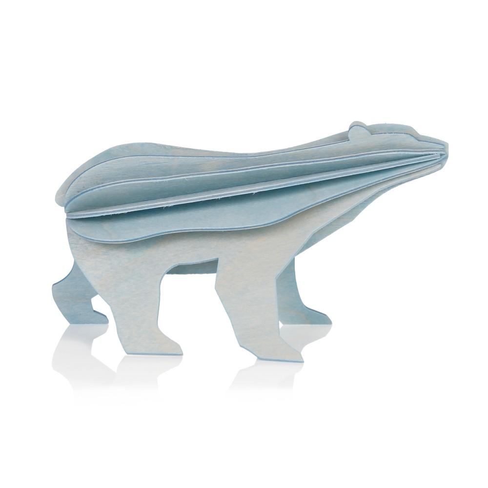 L'ours polaire de Lovi : carte pour construire un 3D en bois (L)