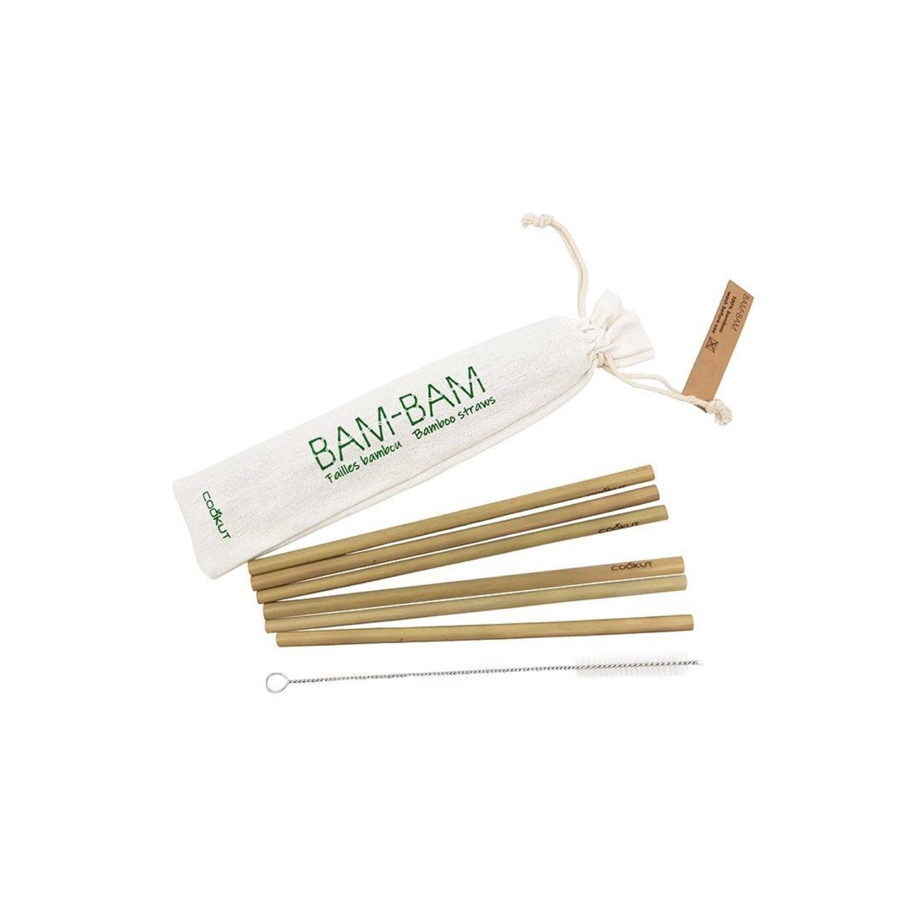 Pailles bambou Bam-Bam avec écouvillon