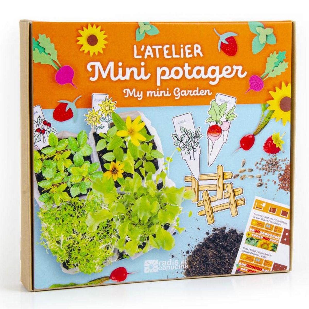 Coffret Je fais pousser mon potager miniature pour jardinier en herbe