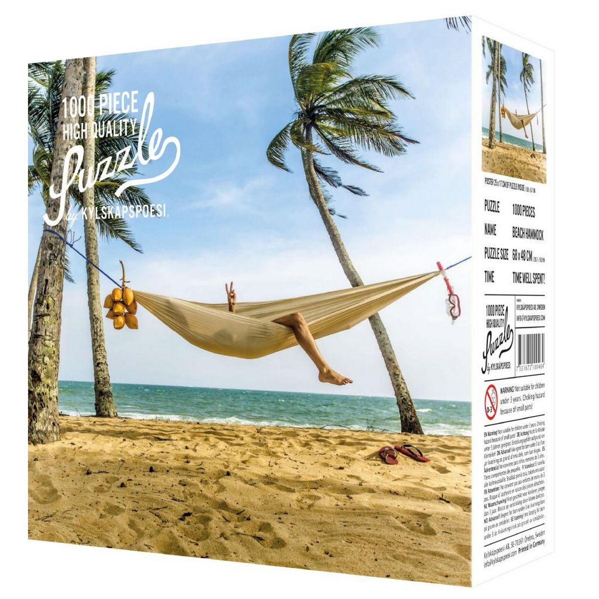 Puzzle 1000 pièces Hamac sur la plage / Beach Hammock