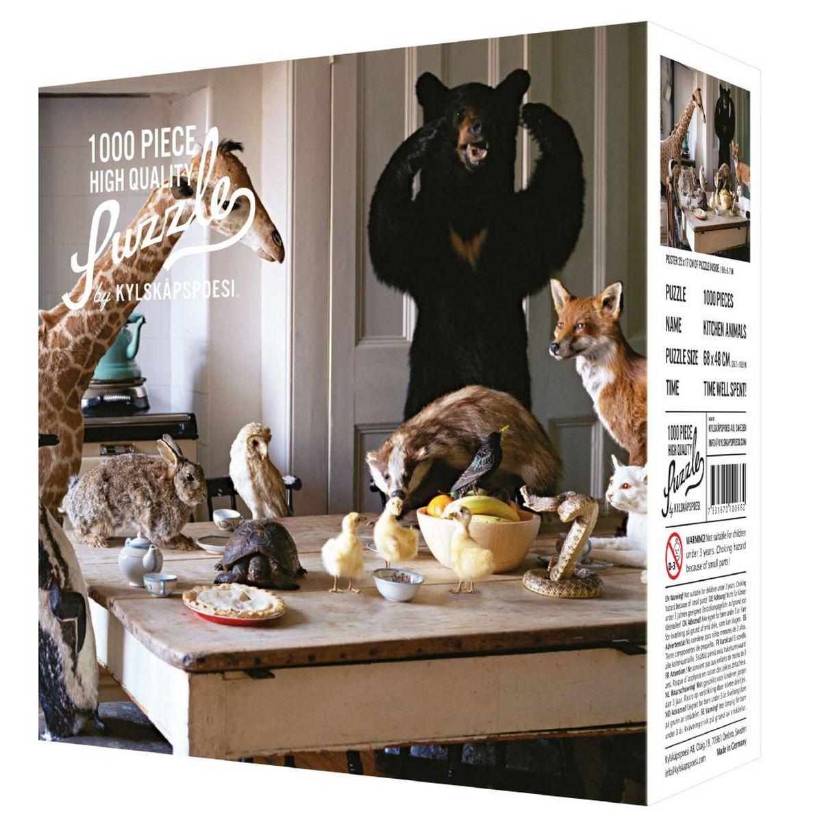 Puzzle 1000 pièces Kitchen animals / Animaux dans la cuisine
