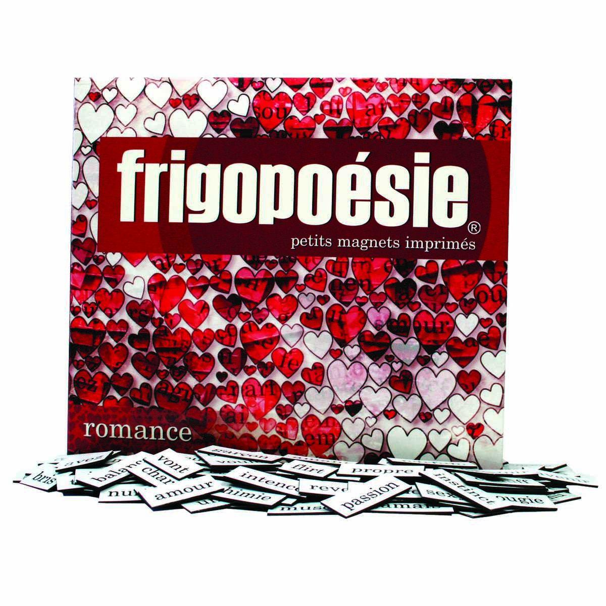 Magnets Frigopoésie Romance (510 mots aimantés)