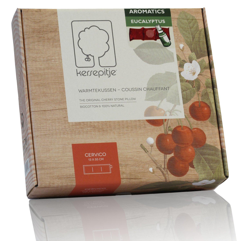 Cherry Cervico aromatisé à l'eucalyptus : l'oreiller-coussin chauffant en noyaux de cerises