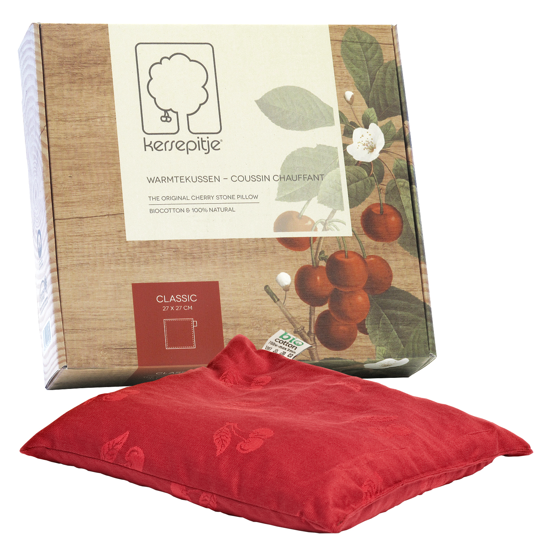 Cherry Classic : l'oreiller-coussin chauffant en noyaux de cerises