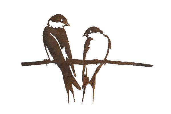 Oiseaux en métal Metalbird : le duo d'hirondelles