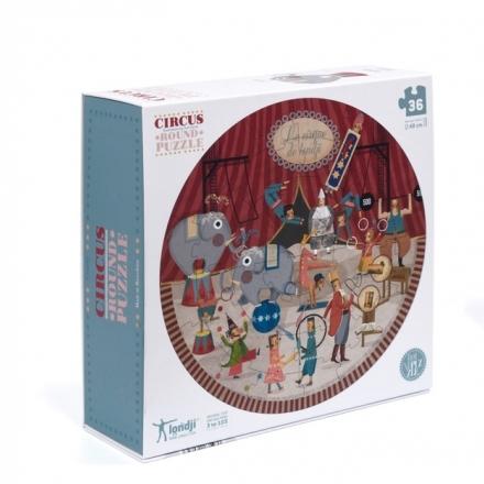 Puzzle 3/6 ans  Le cirque / Circus round