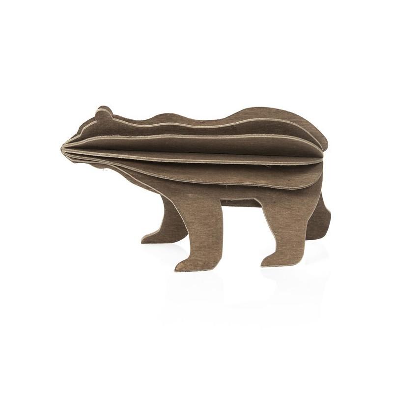 L'ours de Lovi : carte pour construire un 3D en bois (L)