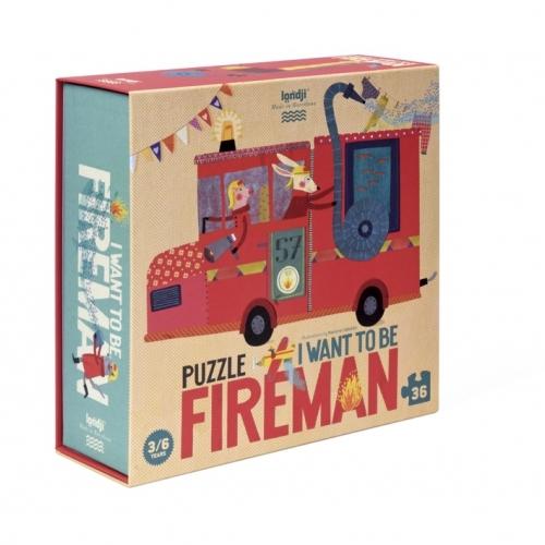 Puzzle 3/6 ans  Je veux être… pompier / I want to be... fireman