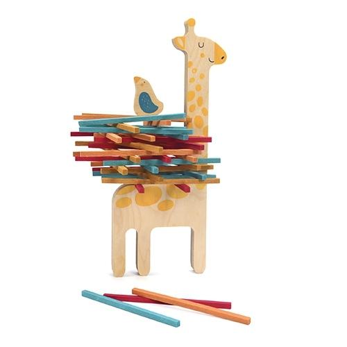 Jeu d'adresse et d'équilibre en bois Matilda la girafe et ses amis