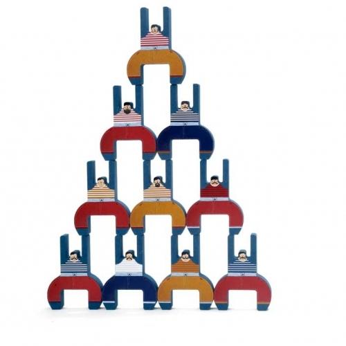 Jeu d'adresse et d'équilibre en bois Les frères acrobates / The acrobat brothers