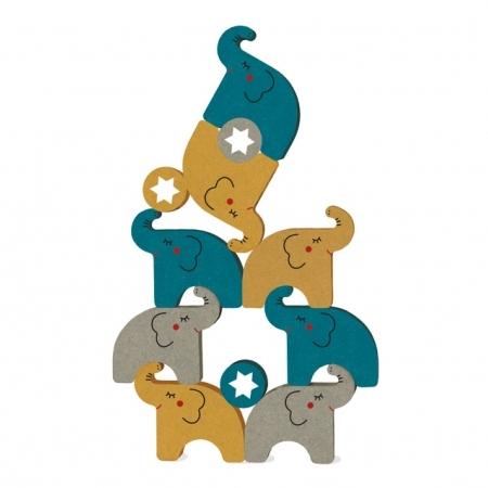 Jeu d'adresse et d'équilibre en bois Alehop les éléphants