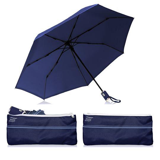 L'Automatique de Beau Nuage, le parapluie avec housse absorbante, bleu de minuit