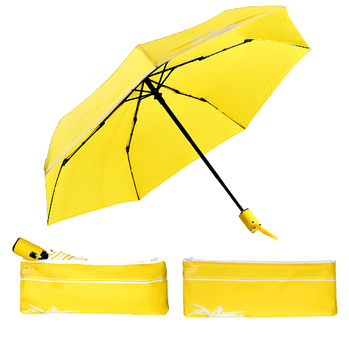 L'Automatique de Beau Nuage, le parapluie avec housse absorbante, jaune étoilé
