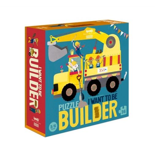 Puzzle 3/6 ans  Je veux être… constructeur / I want to be... builder