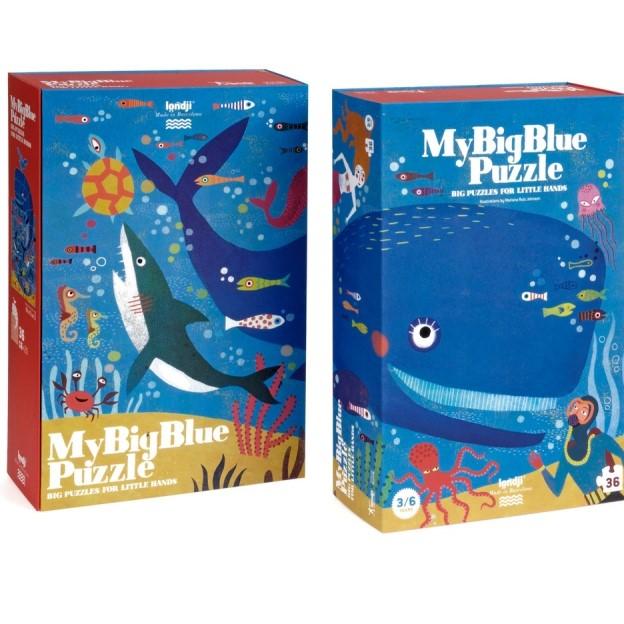 Puzzle 3/6 ans  Le grand bleu / My big blue
