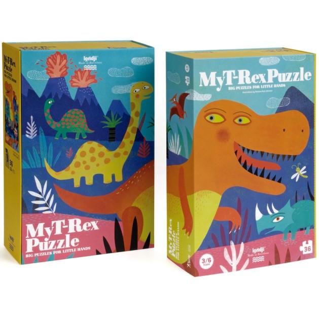 Puzzle 3/6 ans  Jurassique puzzle / My t-rex puzzle