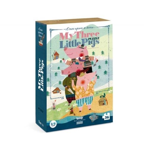 Puzzle 3/6 ans  Les 3 petits cochons / My 3 little pigs
