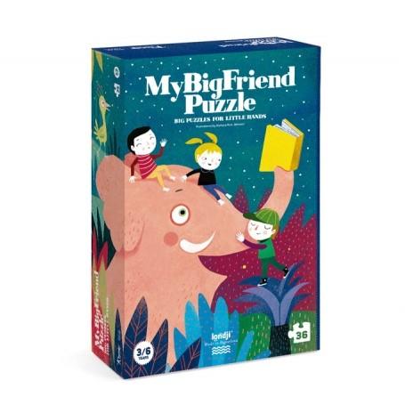 Puzzle 3/6 ans  Mon ami l'éléphant / My big friend