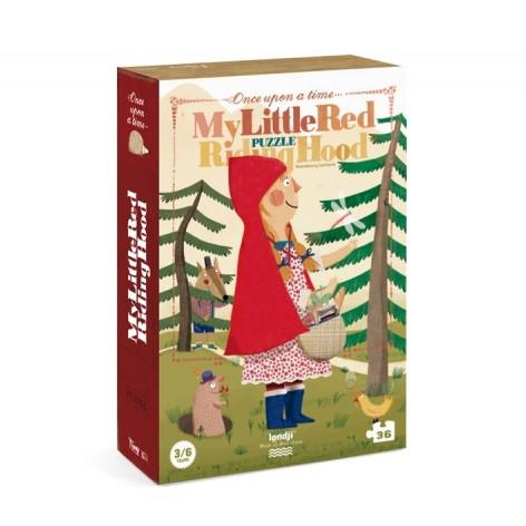 Puzzle 3/6 ans  Le petit chaperon rouge / My little red