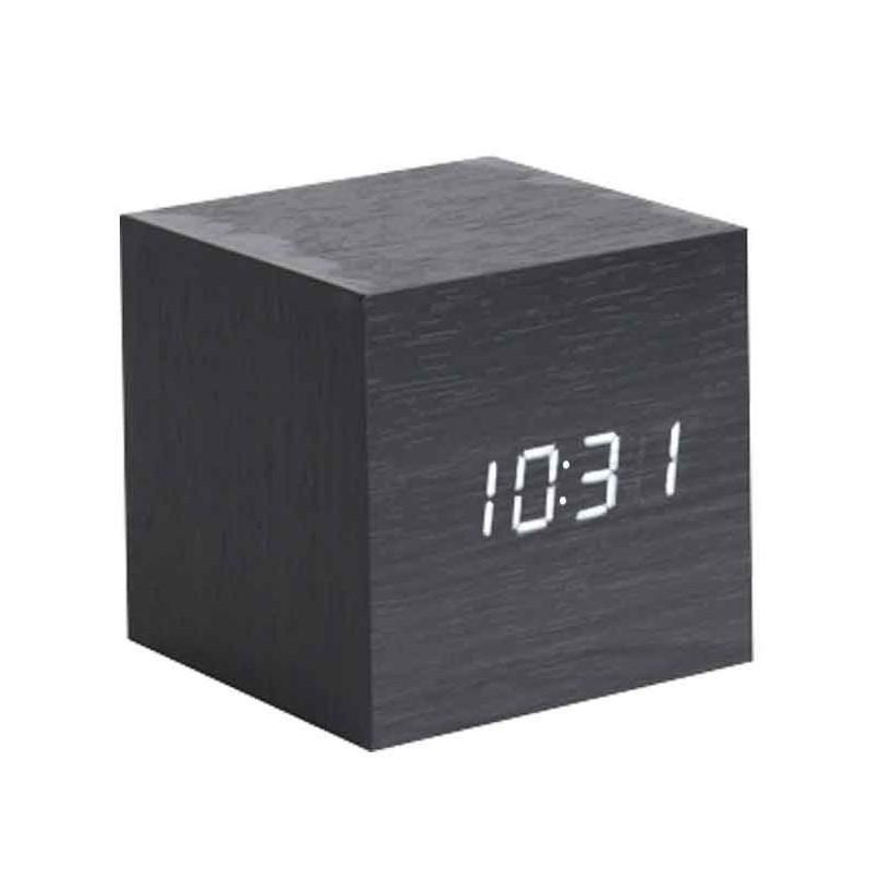 Le réveil mini-cube noir de Karlsson