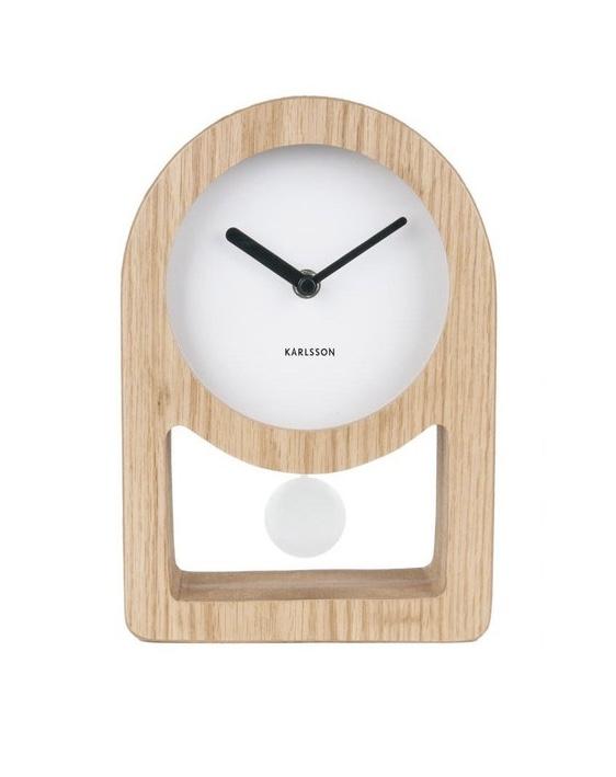 L'horloge de table en bois Lena de Karlsson