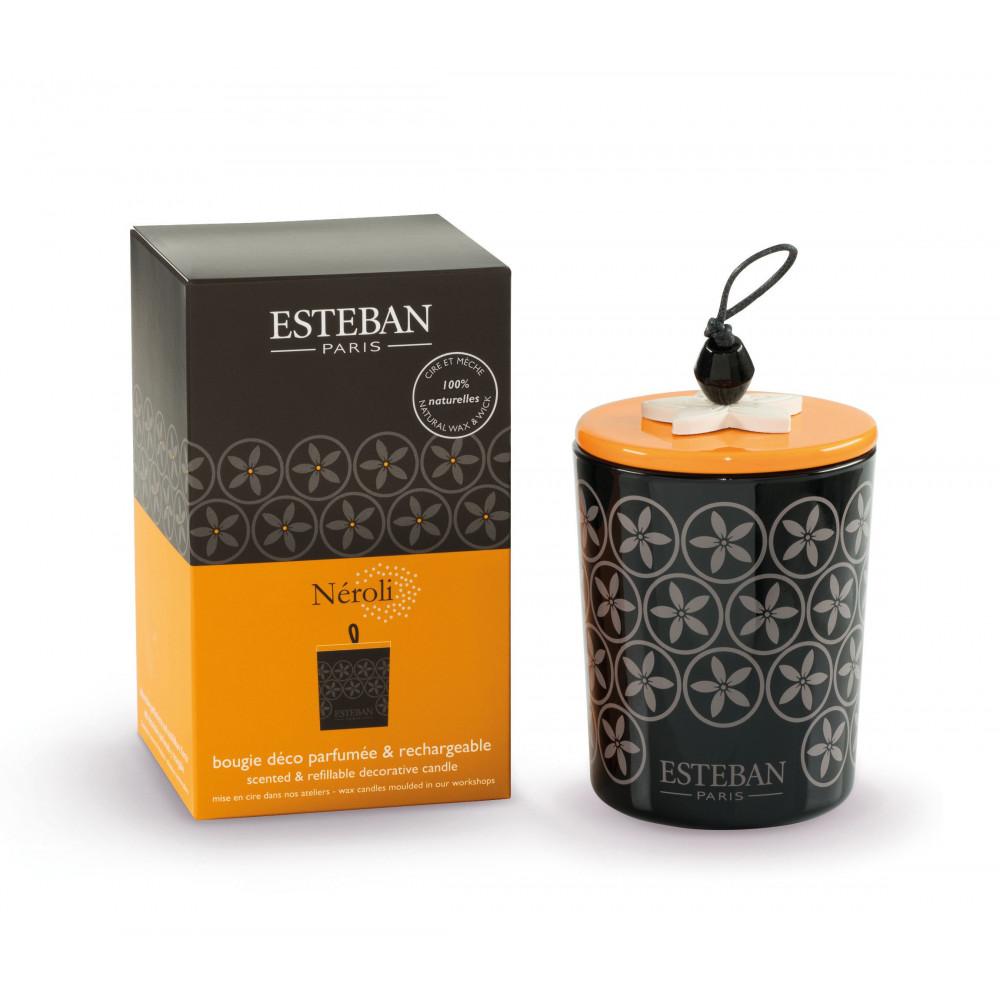 Bougie déco parfumée et rechargeable NÉROLI (Esteban)
