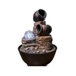 CHEZ UGO ET LEA détente et bien-etre fontaine cascade  boule et jarre