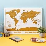 CHEZ UGO ET LEA image et culture luckies of london carte a gratter scratch map edition voyage 1