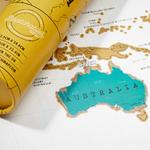 CHEZ UGO ET LEA image et culture luckies of london carte a gratter scratch map edition voyage 3