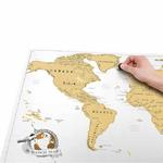 CHEZ UGO ET LEA image et culture luckies of london carte a gratter scratch map edition voyage 5