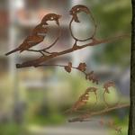 CHEZ UGO ET LEA  nature et végétal Métalbird les moineaux 3