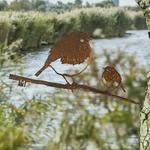CHEZ UGO ET LEA  nature et végétal Métalbird couple rouge-gorge