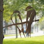 CHEZ UGO ET LEA  nature et végétal Métalbird les hirondelles 3